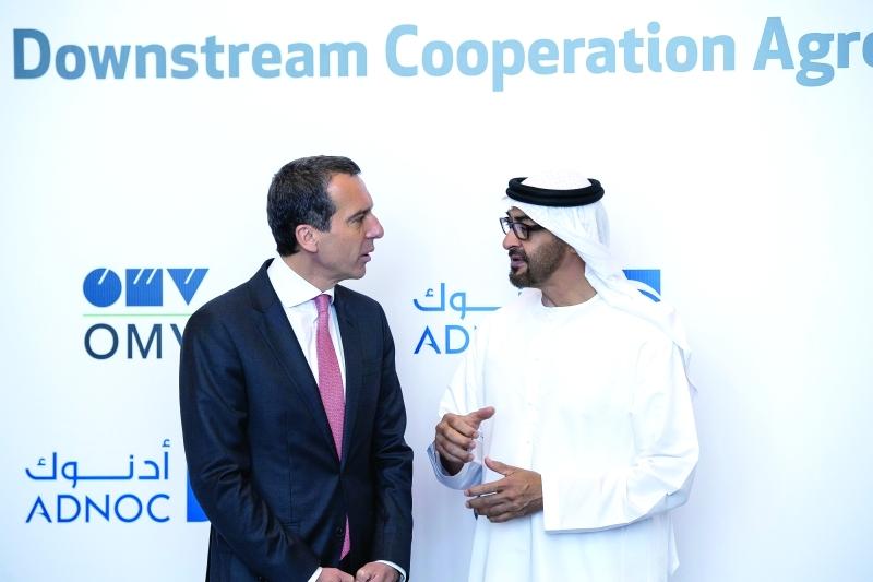 محمد بن زايد يبحث مع المستشار النمساوي سبل تطوير العلاقات بين البلدين