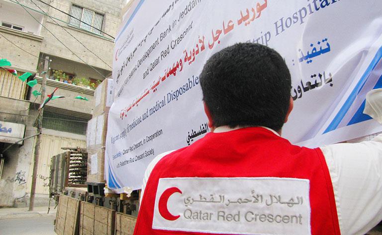 الهلال الأحمر القطري يدعم إنشاء 100 وحدة سكنية في غزة