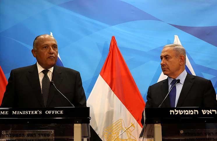 نتنياهو بعد لقائه شكري: التعاون مع مصر ذخر .. وإسرائيل تضرب سيناء