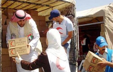وفد الهلال الأحمر الإماراتي السادس يصل غزة محملا بالمساعدات