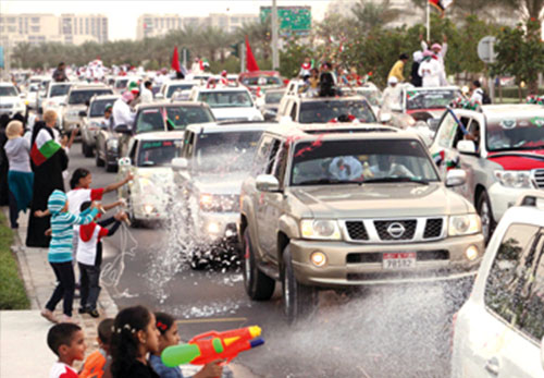 شرطة دبي: مسيرات اليوم الوطني يجب أن تحصل على الموافقة