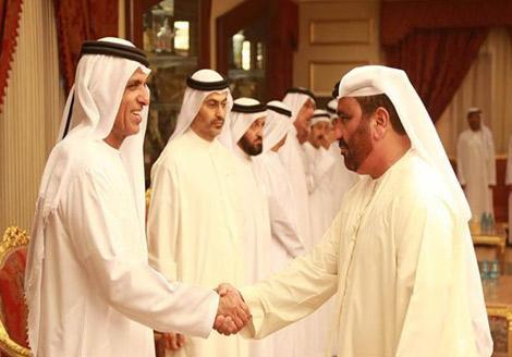 حاكم رأس الخيمة يستقبل السفير الايراني والمهنئين بشهر رمضان المبارك