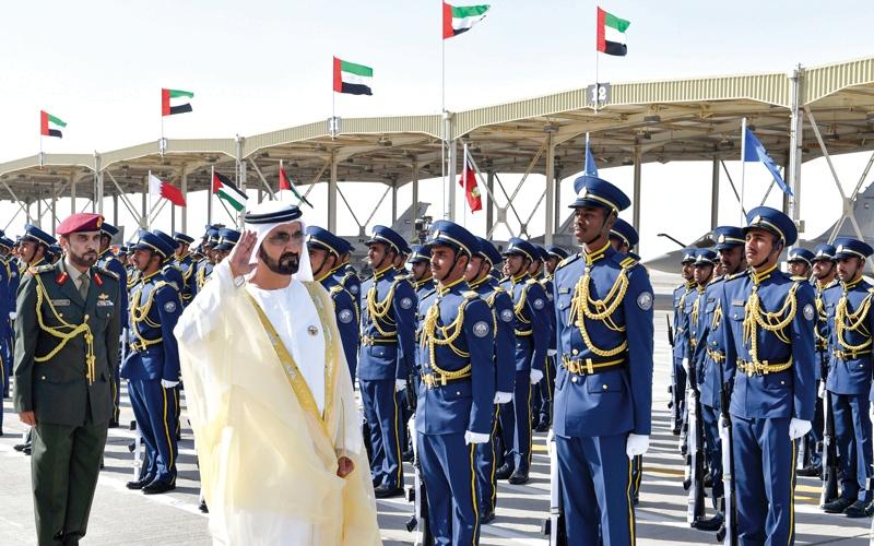 محمد بن راشد يرعى حفل تخريج الدفعة 47 من المرشحين الطيارين