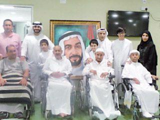 جمعية الصحفيين تزور مرضى في أبوظبي