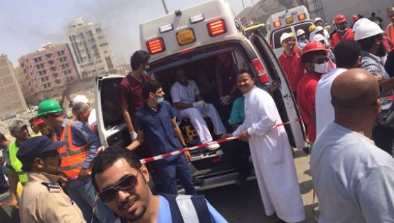 وفاة خمسة أشخاص نتيجة انهيار جدار بمكة المكرمة