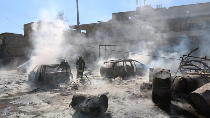 8 قتلى إيرانيين بانفجار راجمة في حلب
