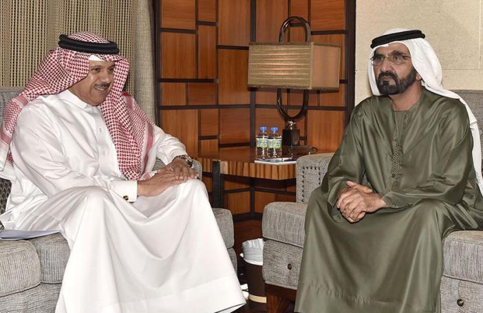 محمد بن راشد والزياني يبحثان جدول أعمال قمة الدوحة