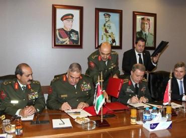 توقيع اتفاقية تعاون عسكري مشترك بين تركيا والأردن
