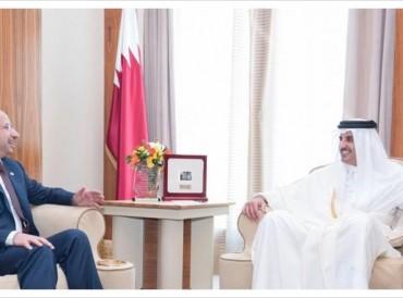 أمير قطر يؤكد دعم بلاده لوحدة العراق وأمنه
